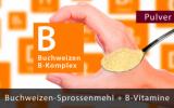 Buchweizen Sprossenmehl mit allen B-Vitaminen, reicht für 3 - 4 Monate. Premium-Pulver
